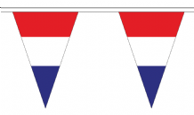 Netherlands Triangular Flag Bunting - 20m Long - 54 Flags